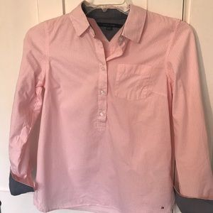 Tommy Hilfiger Pink Striped Top - S